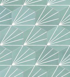 carreaux de ciment hexagonal modern