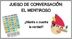 LACLASEDEELE: JUEGO DE CONVERSACIÓN: EL MENTIROSO Spanish Teaching Resources, Spanish Activities, Class Activities, Teaching Materials, Teacher Resources, Bilingual Classroom, Spanish Classroom, Spanish Grammar, Spanish Teacher