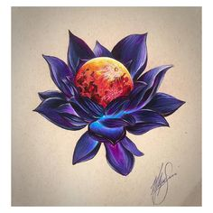 Lotus flower and moon. Sexy Tattoos, Cover Up Tattoos, Body Art Tattoos, Tatoos, Tattoos Lua, Tattoo Art, Lotus Drawing, Moon Drawing, Plant Drawing