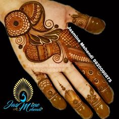 Picture from Jasmine Mehendi Photo Gallery on WedMeGood. Full Hand Mehndi Designs, Henna Art Designs, Stylish Mehndi Designs, Mehndi Designs For Beginners, Mehndi Designs For Girls, Mehndi Design Photos, Wedding Mehndi Designs, Latest Mehndi Designs, Mehndi Designs For Hands