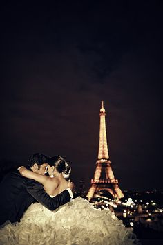 a wedding in paris<3.. Maybe for our 10th year anniversary we can go again...Just us two ;))