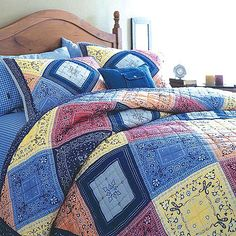 9 Easy Bandana Quilts to Inspire You, Bandana Quilt Set