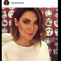 Fernanda Paes Leme de Long Bob e ombré Hair