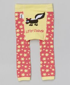 Another great find on #zulily! Yellow 'Little Stinker' Leggings - Infant #zulilyfinds
