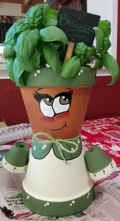 My Miss Ortolani …. I create custom characters … contact me … - Modern - My Miss Ortolani . I create custom characters contact me - Flower Pot Art, Clay Flower Pots, Flower Pot Crafts, Clay Pots, Clay Pot Projects, Clay Pot Crafts, Diy Clay, Shell Crafts, Flower Pot People