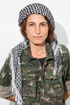 Evin Ahmed, a member of the YPJ: Syrian women bravely fighting against ISIS.  http://www.marieclaire.com/world-reports/inspirational-women/these-are-the-women-battling-isis