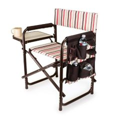 The Sports Chair - Moka by Picnic Time is the ultimate spectator chair or outdoor patio chair. It's a lightweight, portable folding chair with a sturdy espresso-brown powder-coated aluminum frame that has an adjustable shoulder strap for easy carryin Picnic Chairs, Patio Chairs, Outdoor Chairs, Outdoor Furniture, Camping Furniture, Picnic Baskets, Camping Chairs, Outdoor Fun, Outdoor Camping