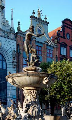 Neptune Fountain, Artus Court, Gdansk, Poland