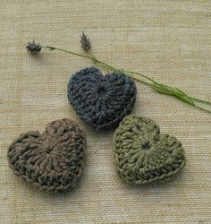Check out this item in my Etsy shop https://www.etsy.com/uk/listing/474364807/crocheted-hearts-with-english-lavender