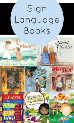 Sign Language Books for Kids~Great collection of books featuring sign language and books to teach sign language