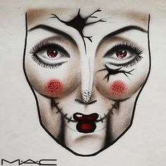 Image result for halloween makeup face charts
