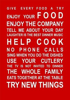 The Kitchen Rules Poster Motivates Your Family - foodista.com