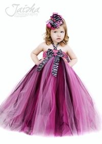 Lil' Miss Haute Glamour Girls Zebra Tutu Dress-Lil' Miss Haute Tutu Dress