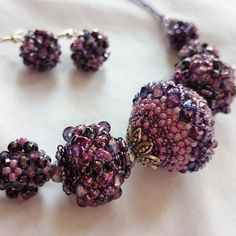 Purple Dusk Necklace from beaded beads