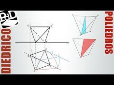 Tetraedro con una arista en plano horizontal de proyección y la opuesta paralela a él..