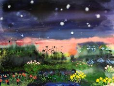 "Saatchi Online Artist: Stephanie Warburg; Oil, 2012, Painting ""Twilight on the Heath"""