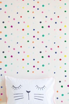Wall Decal - Play Time Palette Hand Drawn Dots - Wall Sticker - Room Decor - Wall Decor Attractive D