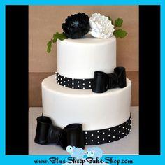 Black and White Anniversary Cake