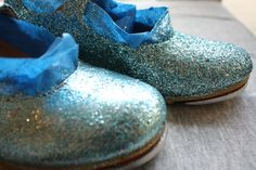 Glittery tap shoes!!!