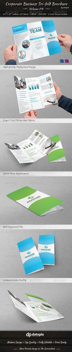 Corporate Business Tri-fold Brochure   Volume 4