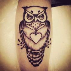 Tattoo coruja sombreada