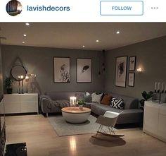Interior Design Living Room, Living Room Designs, Living Room Decor, Living Spaces, Bedroom Decor, Bedroom Wall Colors, Bedroom Bed Design, Pinterest Room Decor, Apartment Renovation
