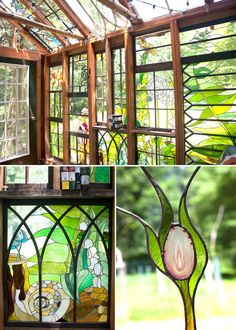 Glaslaube Innenraum