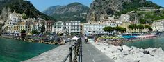 Panoramic view from Amalfi, Campania, Italia, Nikon Coolpix L310, 4.5mm, 1/200s, ISO80, f/8.7, panorama mode: segment 6, HDR- Art photography (3D), 201507141409