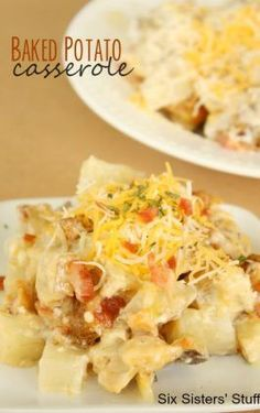 John Wayne casserole (beef and biscuits casserole), is one of a kind with its taco ingredients and biscuit mix. Loaded Baked Potato Salad, Potatoe Casserole Recipes, Potato Recipes, Chicken Casserole, Broccoli Casserole, Chicken Recipes, Pasta Casserole, Enchilada Casserole, Veggie Recipes