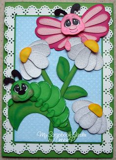 Card using pieces from Cute As A Bug  ~DT Debbie