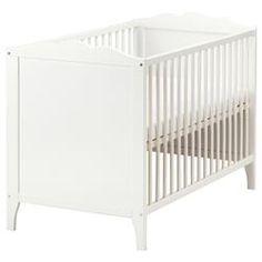 бебешко креватче, 60x120 см, бяло - 129 лв; Височината на основата на креватчето се регулира в 2 позиции.