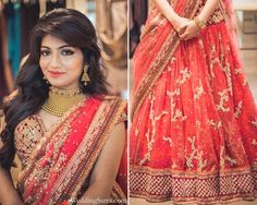 With WeddingSutra on Location. In a coral pink net lehenga by Sabyasachi. Bride-to-be Ashika Shah blogs about her makeover experience at ENSEMBLE