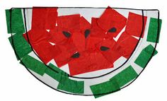 Children's Learning Activities: Watermelon Crepe Paper Pic