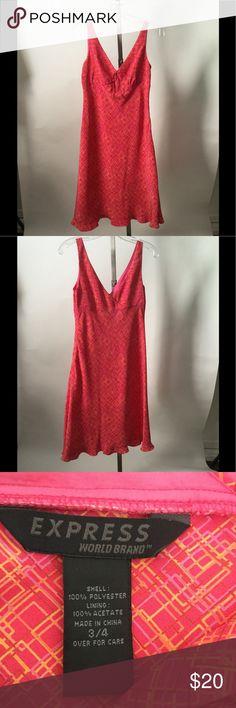 Express, Summer Dress Size 3/4 Pink/Orange Express, Summer Dress Size 3/4, Pink/Orange Design, Shell Polyester Adorable Dress Express Dresses