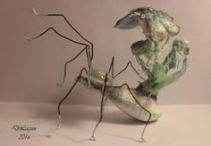 Spider butterfly OOAK cloth fantasy by FantasySculpturesArt