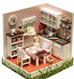 Lovely DIY Dollhouse Miniature Kitchen
