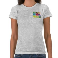 Addiction Recovery Survivor T-shirt by www.Giftsforawareness.com