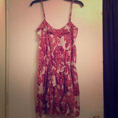 Collective Concepts Spaghetti Strap Printed Dress