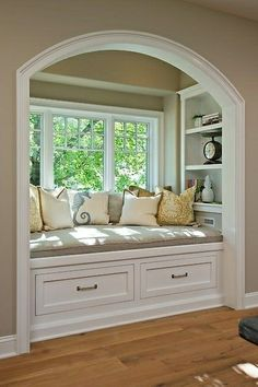 I don't really know if you can diy a window bench seat, feel like it has to be made into the home unless you really wanna do some home improvement like Jonathan on Property Brothers, but I really like how these look and it'd be cool to have in the bedroom.
