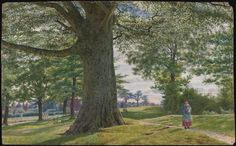 George Price Boyce 'A Girl by a Beech Tree in a Landscape', 1857