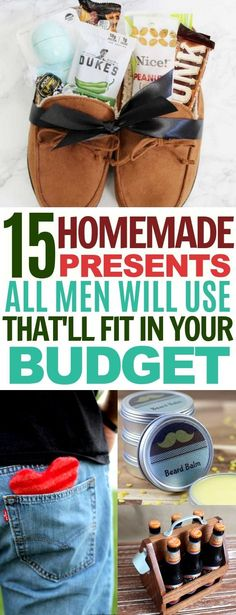 Gifts for Him: 15 That You Can Make Yourself I am totally LOVING these DIY gifts for boyfriend, husbands, and all the other men in your life!I am totally LOVING these DIY gifts for boyfriend, husbands, and all the other men in your life! Diy Gifts For Christmas, Diy Gifts For Men, Diy For Men, Christmas Holidays, Christmas Presents For Boyfriend, Christmas Ideas For Husband, Diy Romantic Gifts For Him, Christmas Presents For Husband, Homemade Gifts For Men