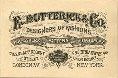 E. Butterick  Co., Designers of Fashions