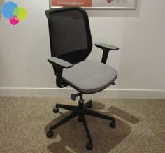 Mesh Back OrangeBox Joy Operator Chair Net Price Black Mesh Back Grey Upholstered Seat Gas LIft Height Adjustable Arms With Arm Pads Body Weight Tensioner Seat Slide Back Tilt Buy Used Furniture, Office Furniture, Used Chairs, Black Mesh, Tilt, Body Weight, Arms, Joy, Stuff To Buy