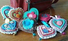Crocheted Heart Key Chain [FREE Crochet Pattern]