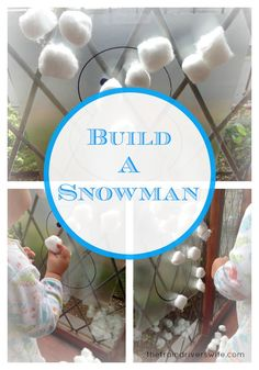 Build a Snowman A fantastic fun and simple Christmas activity for Kids and Toddlers. Simple Arts and Crafts. Set up in less than five minutes and have fun for hours!