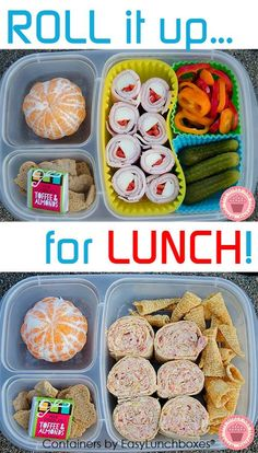 Who says you have to pack a typical sandwich every day? Easy roll-up ideas from What The Girls Are Having.