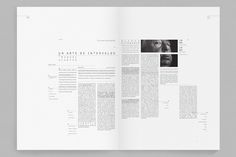 Editorial / Septième art - Programa de páginas by Federico Kanno, via Behance -- STUNNING! Design Poster, Book Design Layout, Print Layout, Page Layout, Page Design, Print Design, Web Design, Text Layout, Brochure Layout