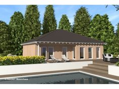 Chalet 111 - Einfamilienhaus von Bau Braune Inh. Sven Lehner | HausXXL #Massivhaus #Bungalow #klassisch #Walmdach