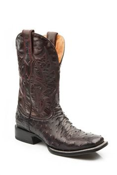 0bb615f52c8 Men s Full Quill Ostrich Square Toe Western Boots Black  1202088013332  -   399.99   Boots