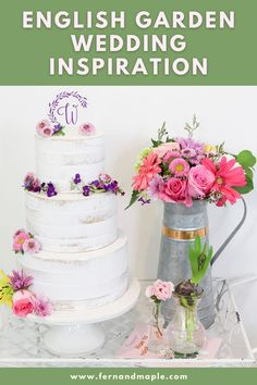Create a beautiful and fragrant English Country Garden Wedding with DIY centerpieces, seating chart, cocktail recipe and more! Get all of the details now at fernandmaple.com!
